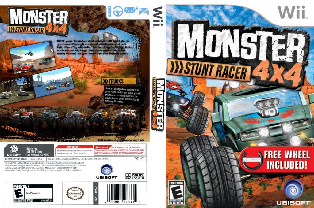Monster 4x4: Stunt Racer Wii coverfullHQ (RQZE41)