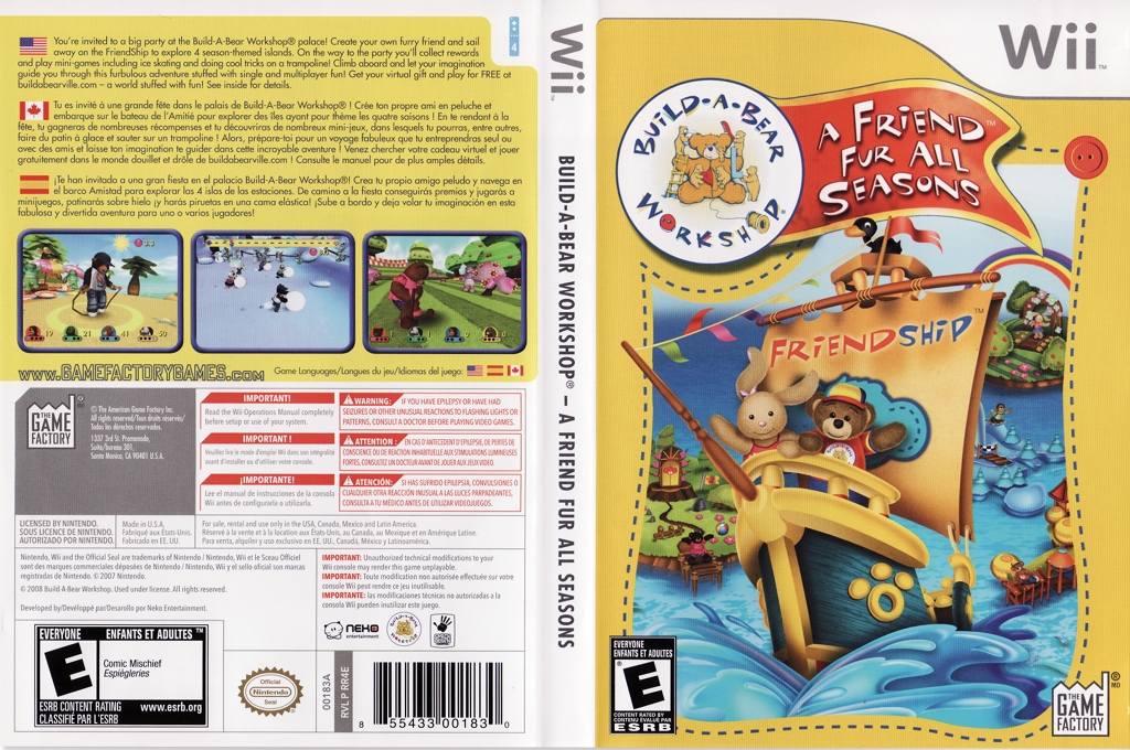 Build-A-Bear Workshop: A Friend Fur All Seasons Wii coverfullHQ (RR4EGY)