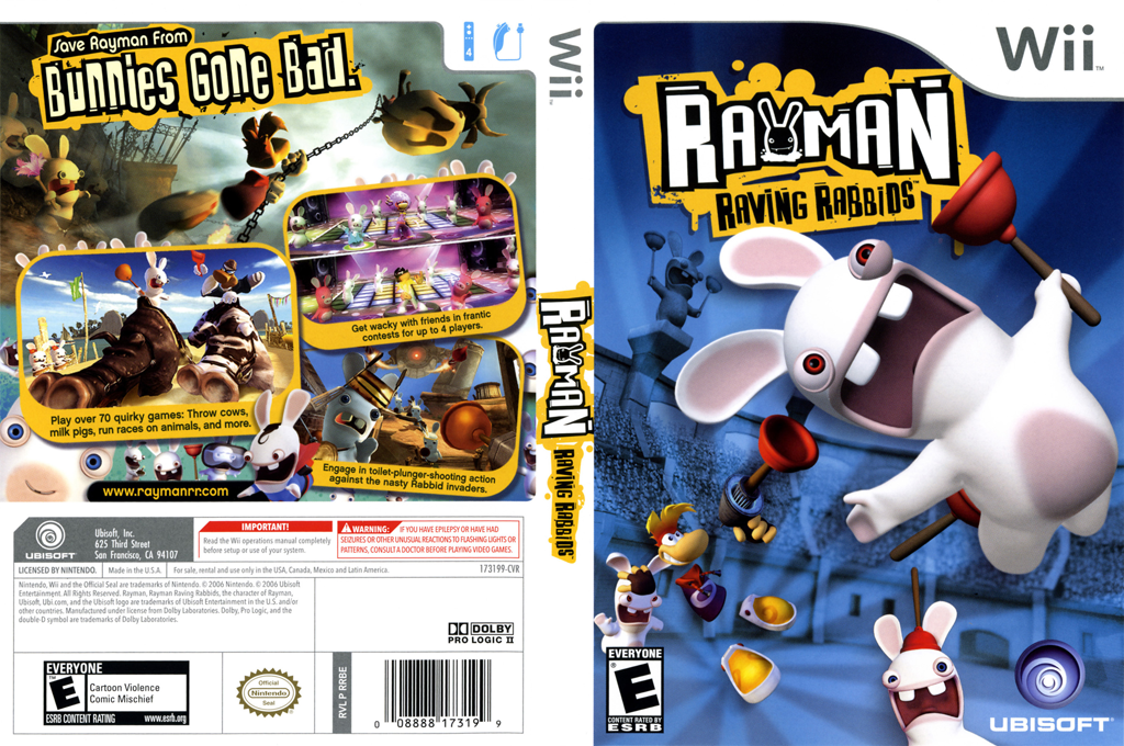 Rayman Raving Rabbids Wii coverfullHQ (RRBE41)