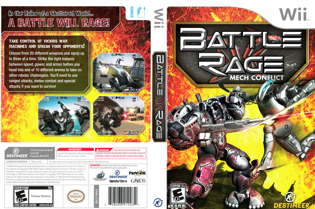 Battle Rage: Mech Conflict Wii coverfullHQ (RRVENR)