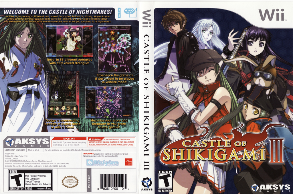 Castle of Shikigami III Wii coverfullHQ (RS4EXS)