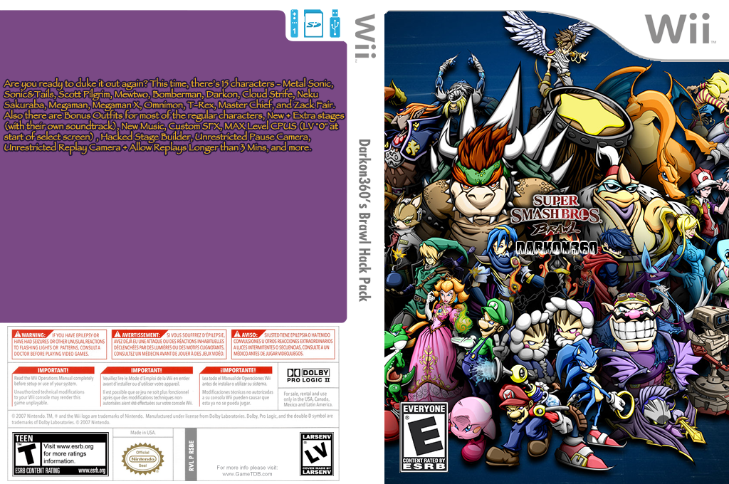 Darkon360's Brawl Hack Pack Wii coverfullHQ (RSBE06)