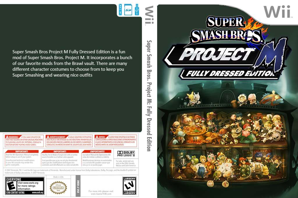 Super Smash Bros. Project M: Fully Dressed Edition Wii coverfullHQ (RSBE19)