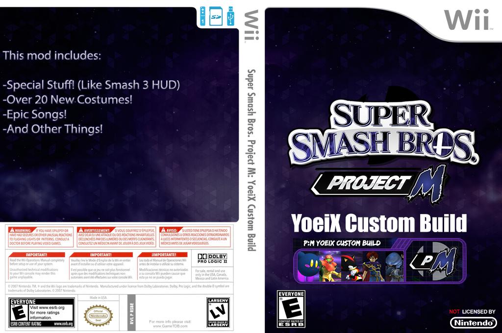 Super Smash Bros. Project M: YoeiX Custom Build Wii coverfullHQ (RSBE29)