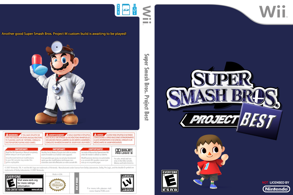 Super Smash Bros. Project Best Wii coverfullHQ (RSBE36)