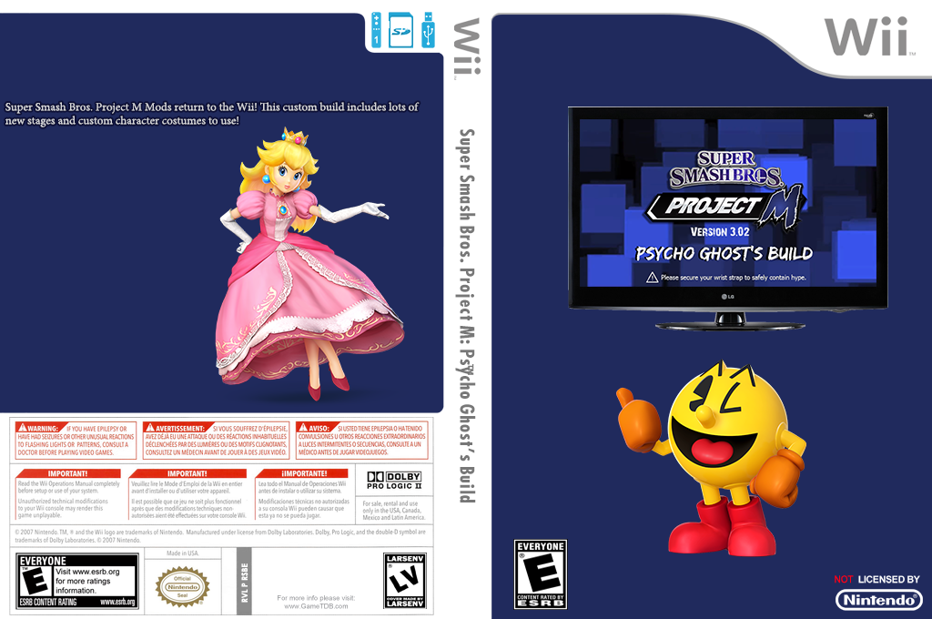 Super Smash Bros. Project M: Psycho Ghost's Build Wii coverfullHQ (RSBE37)