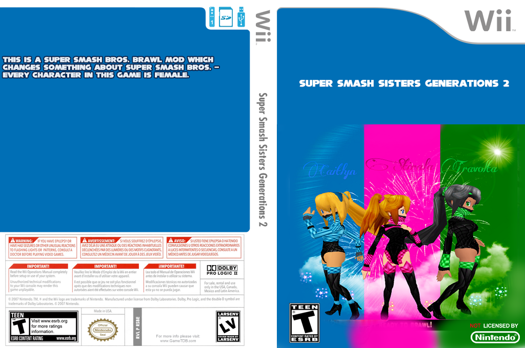 Super Smash Sisters Generations 2 Wii coverfullHQ (RSBE38)
