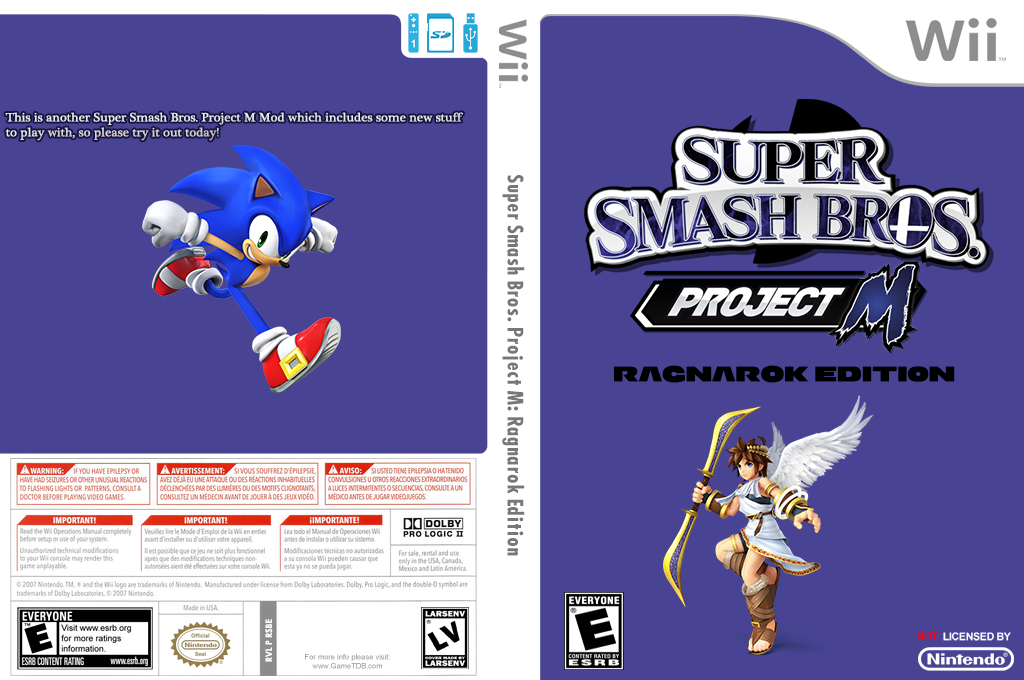 Super Smash Bros. Project M: Ragnarok Edition Wii coverfullHQ (RSBE40)
