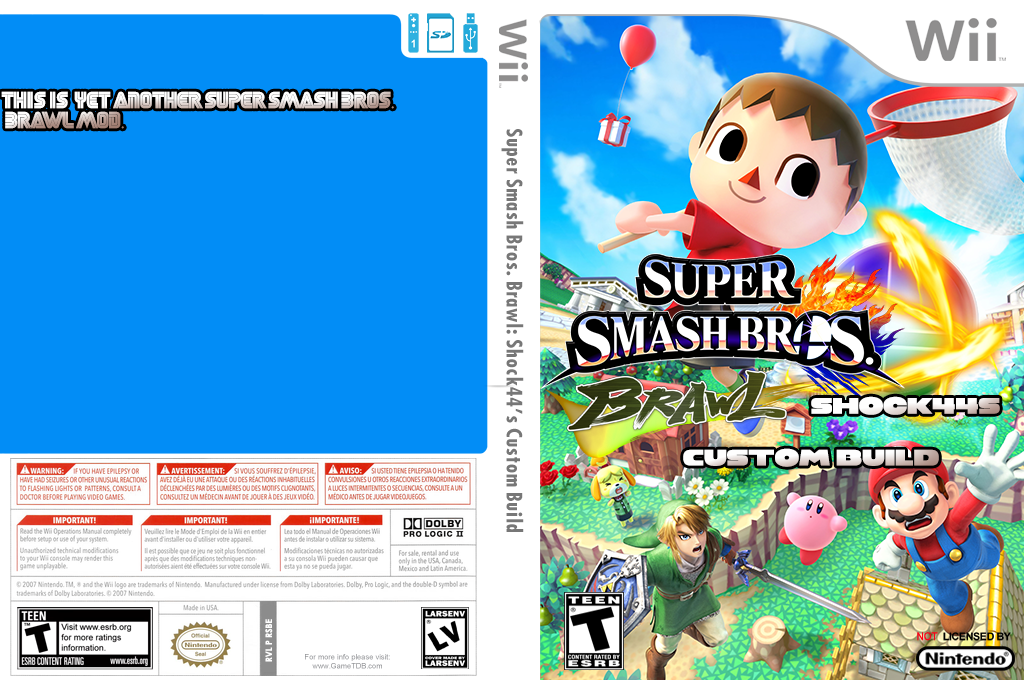 Super Smash Bros. Brawl: Shock44's Custom Build Wii coverfullHQ (RSBE45)