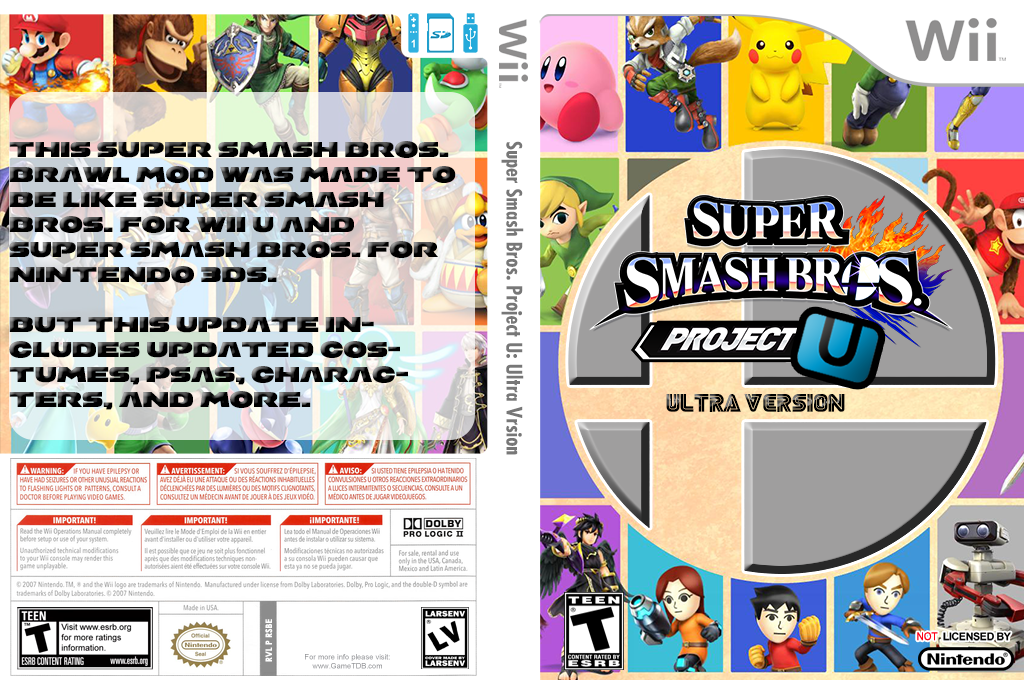 Super Smash Bros. Project U: Ultra Version Wii coverfullHQ (RSBE50)
