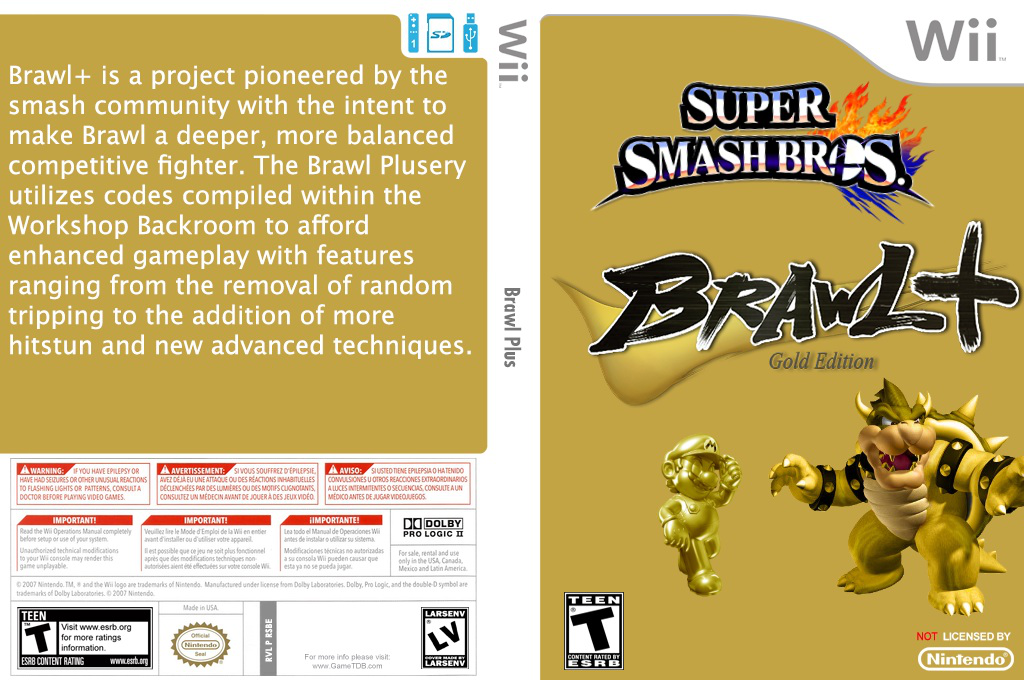 Super Smash Bros. Brawl Plus Wii coverfullHQ (RSBEBP)
