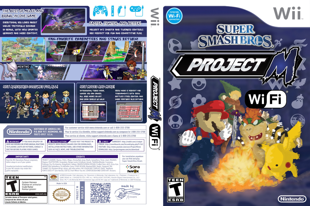 Super Smash Bros. Project M Wi-Fi Wii coverfullHQ (RSBEWM)