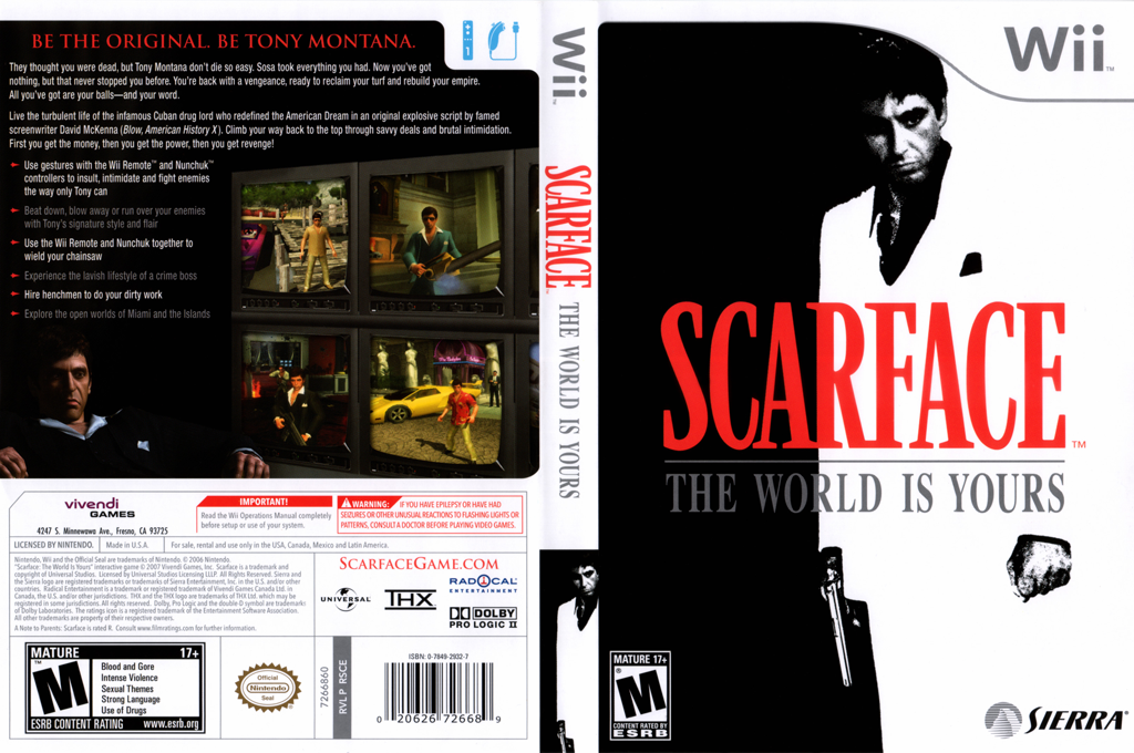 Scarface: The World Is Yours Wii coverfullHQ (RSCE7D)