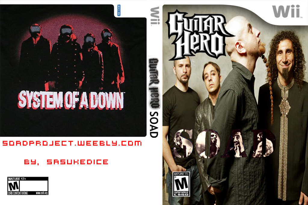 Guitar Hero III Custom : System of a Down Wii coverfullHQ (RSJESD)