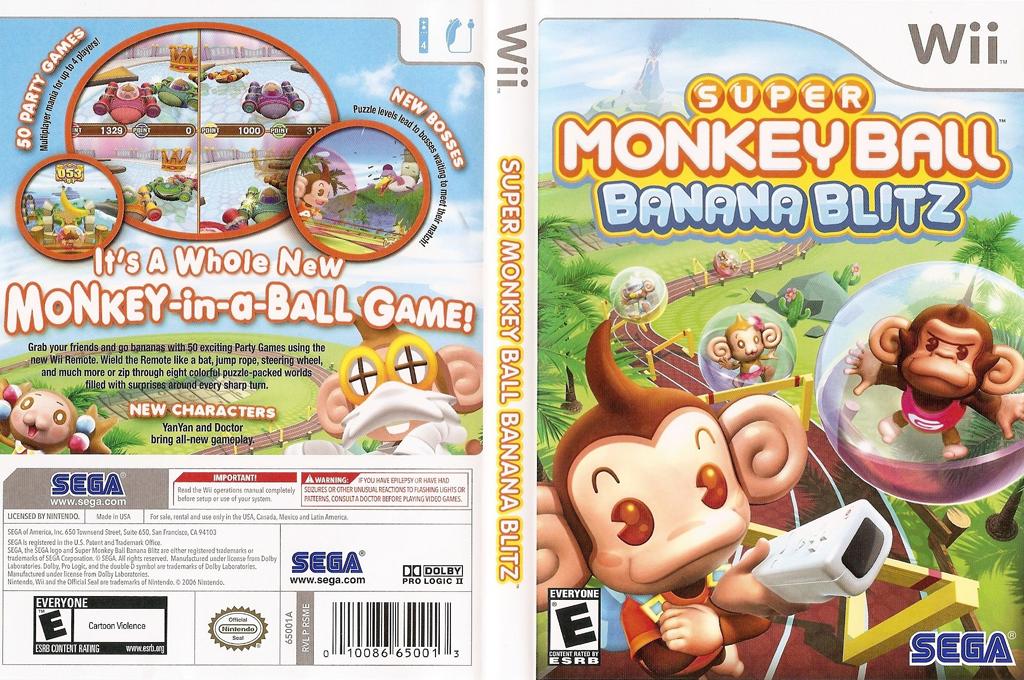 Super Monkey Ball: Banana Blitz Wii coverfullHQ (RSME8P)