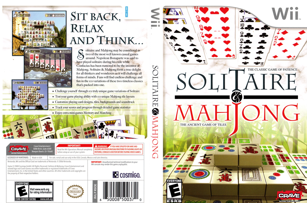 Solitaire & Mahjong Wii coverfullHQ (RSOE4Z)