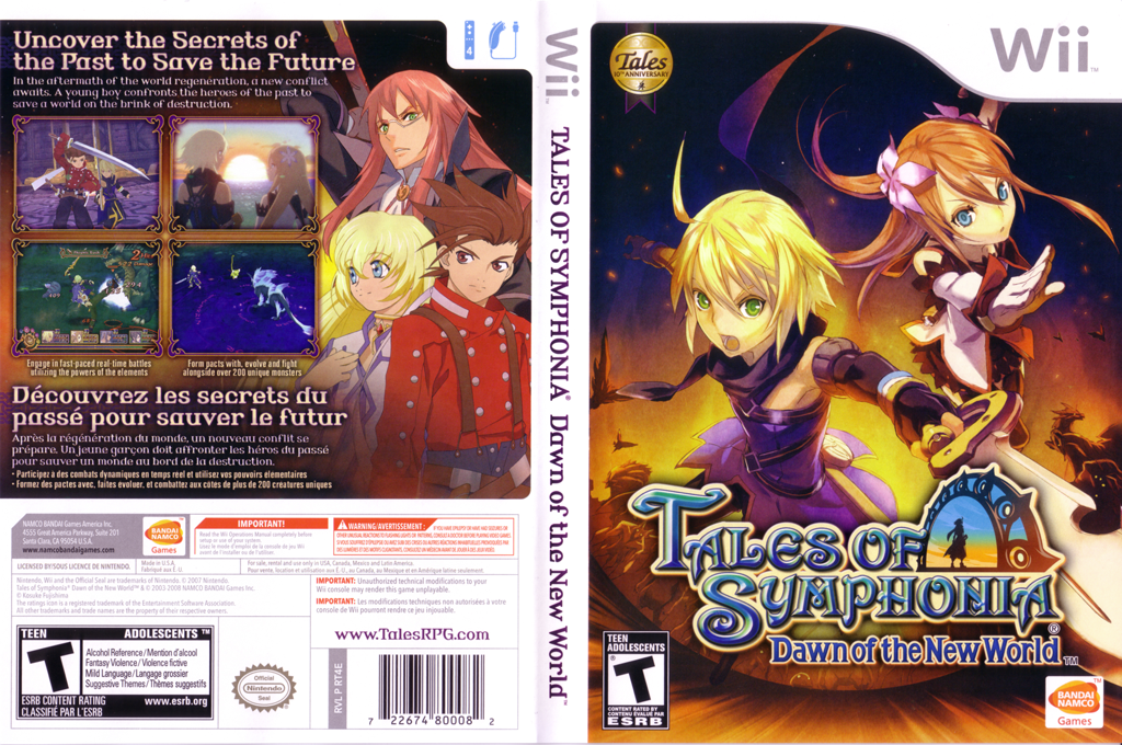 Tales of Symphonia: Dawn of the New World Wii coverfullHQ (RT4EAF)
