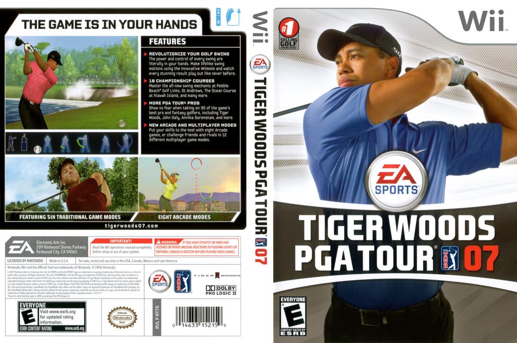 Tiger Woods PGA Tour 07 Wii coverfullHQ (RT7E69)