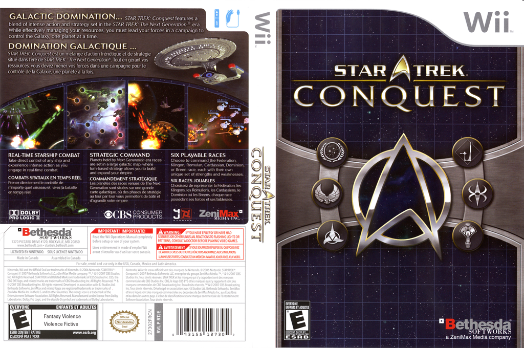 Star Trek: Conquest Wii coverfullHQ (RTJE68)
