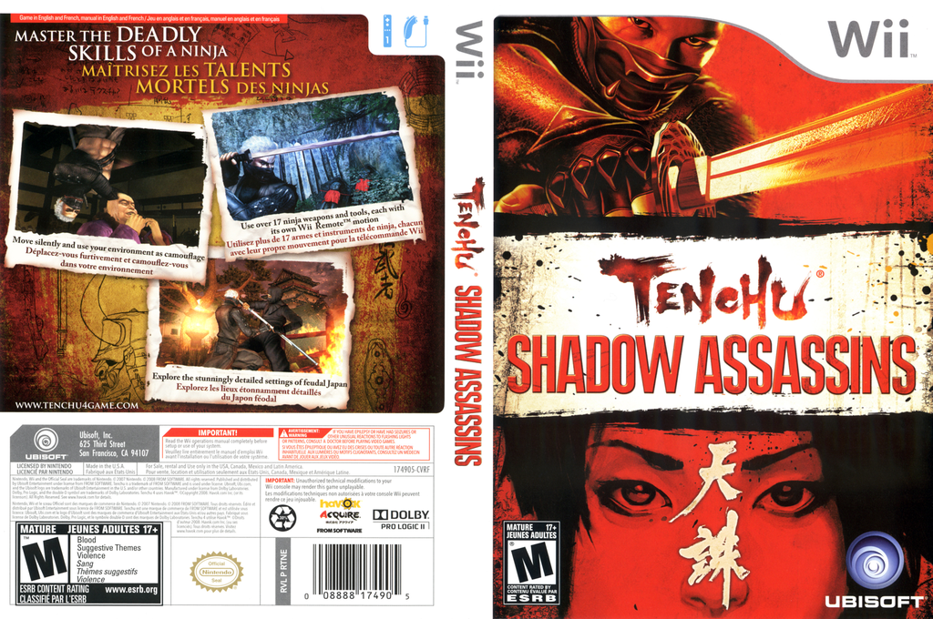 Tenchu: Shadow Assassins Wii coverfullHQ (RTNE41)