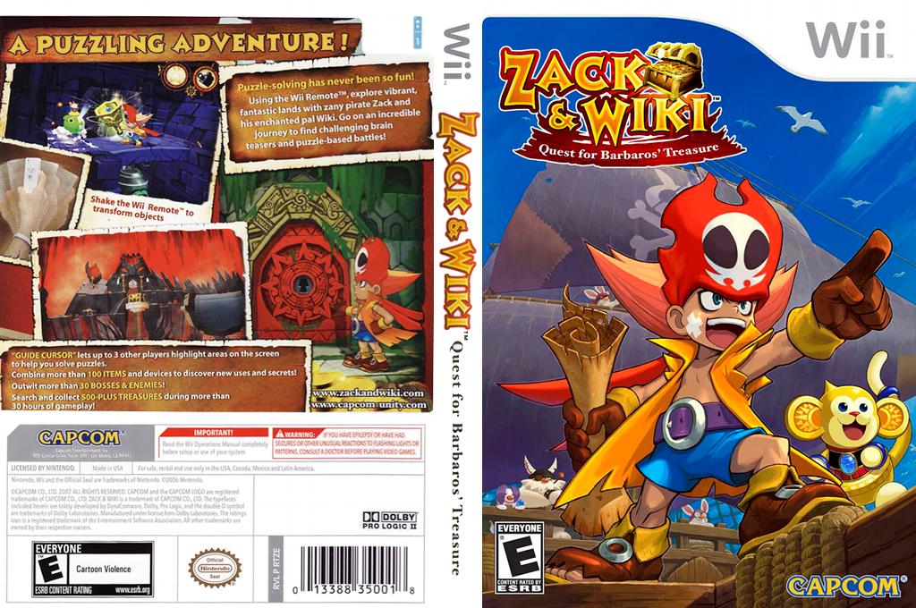 Zack & Wiki: Quest for Barbaros' Treasure Wii coverfullHQ (RTZE08)