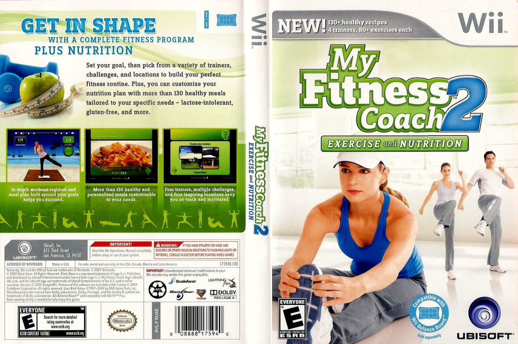 My Fitness Coach 2: Exercise & Nutrition Wii coverfullHQ (RU4E41)