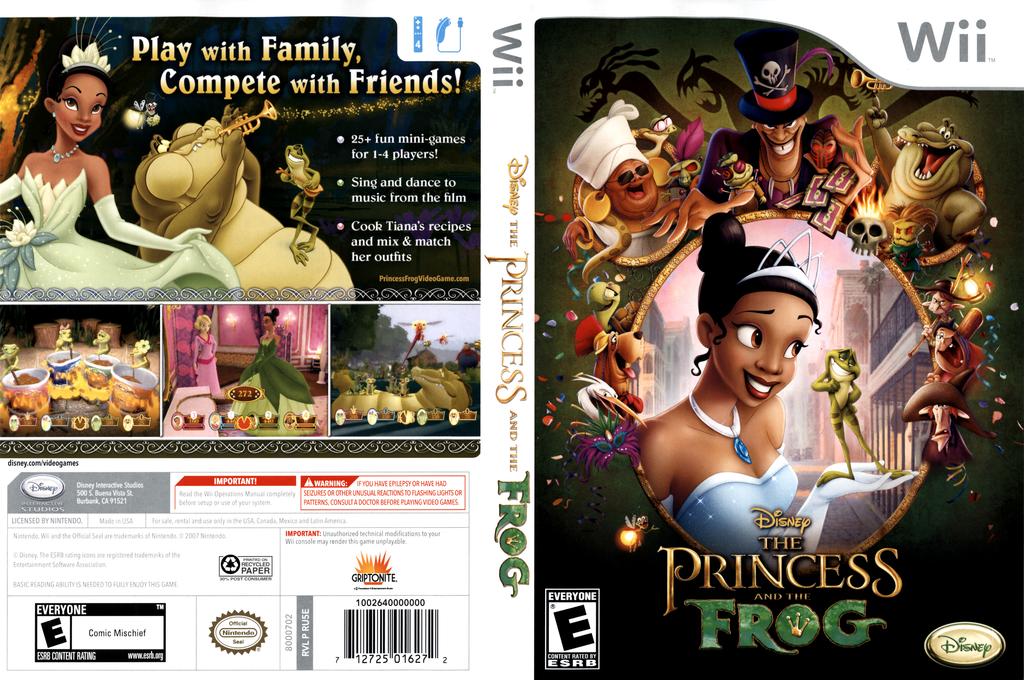 The Princess and the Frog Wii coverfullHQ (RU5E4Q)