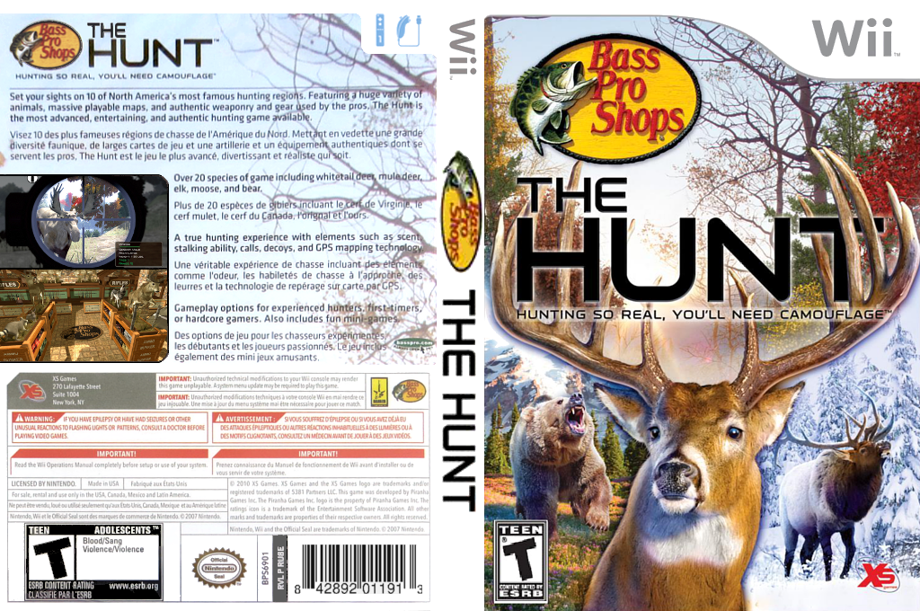 Bass Pro Shops: The Hunt Wii coverfullHQ (RU8EFS)