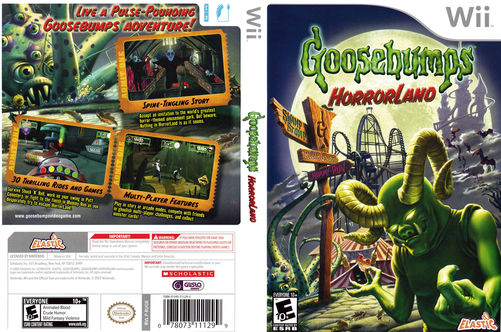 Goosebumps: HorrorLand Wii coverfullHQ (RUGE7T)