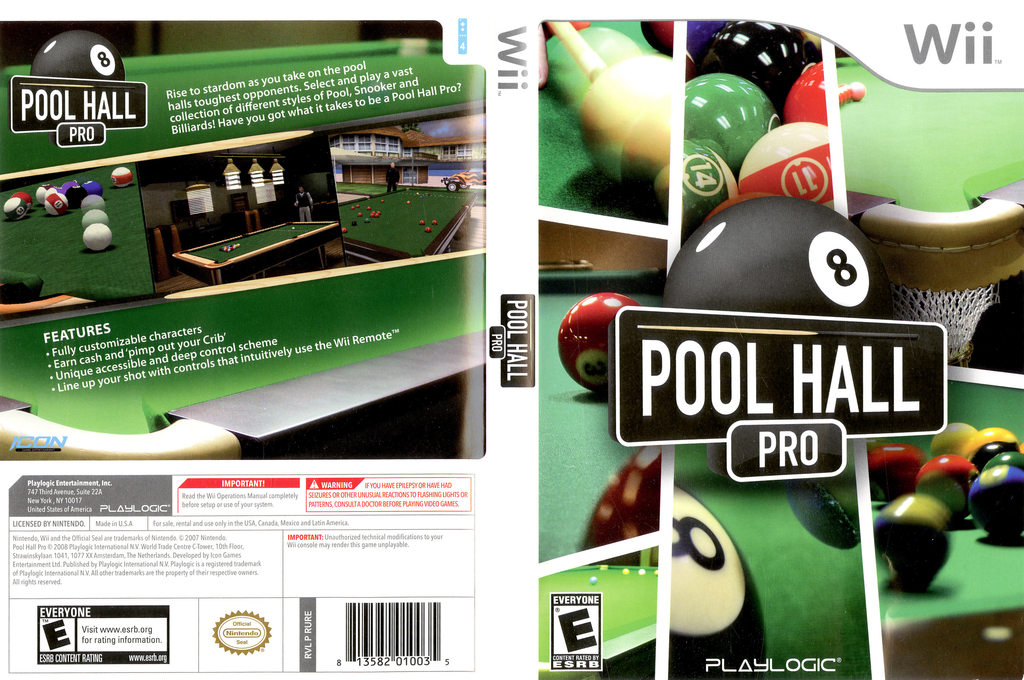 Pool Hall Pro Wii coverfullHQ (RUREPL)