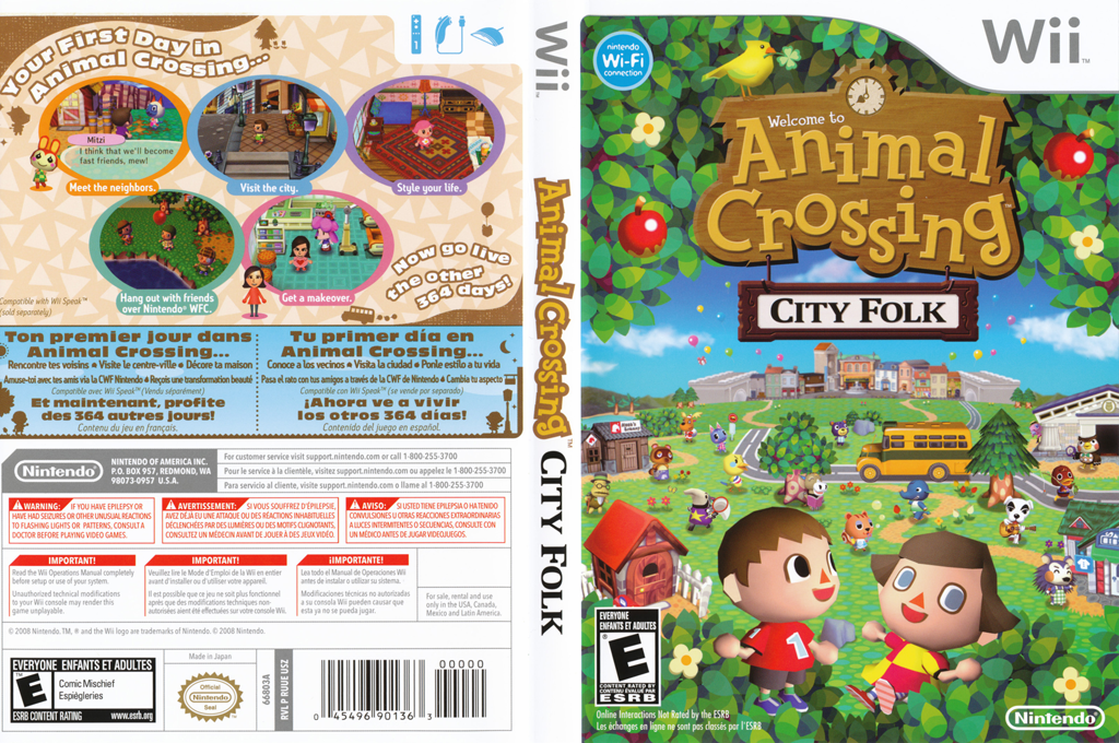 Animal Crossing: City Folk Wii coverfullHQ (RUUE01)