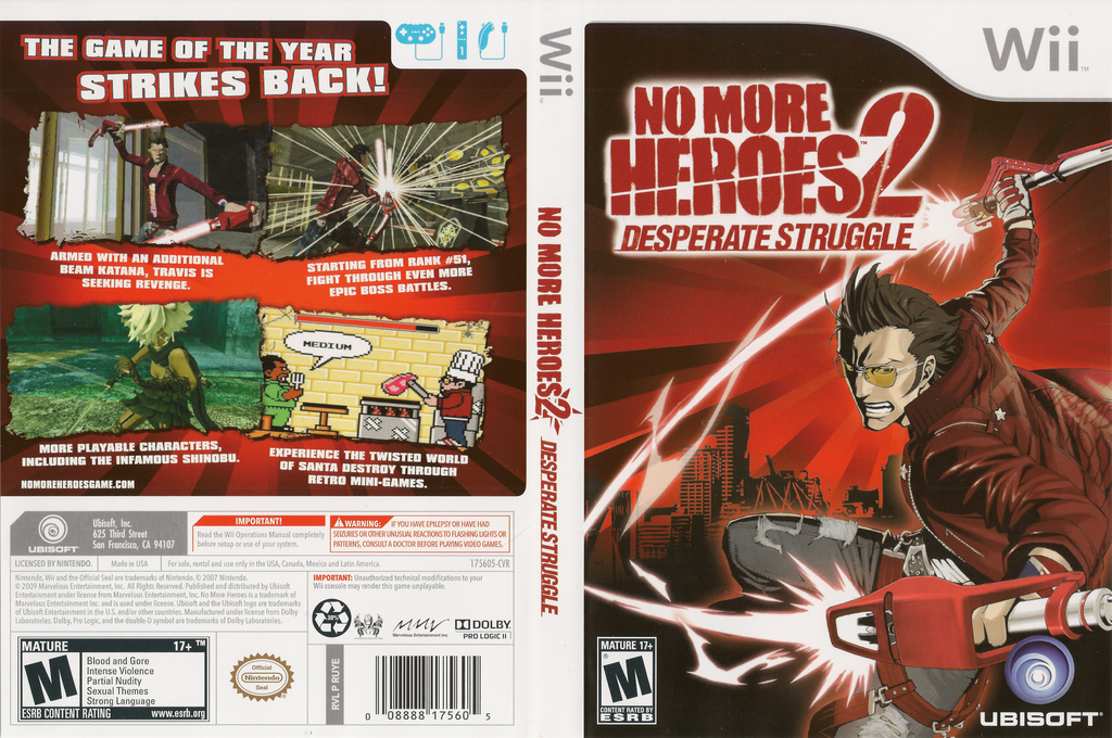 No More Heroes 2: Desperate Struggle Wii coverfullHQ (RUYE41)