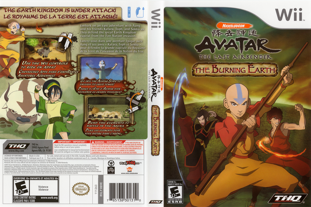 Avatar: The Last Airbender - The Burning Earth Wii coverfullHQ (RVAE78)