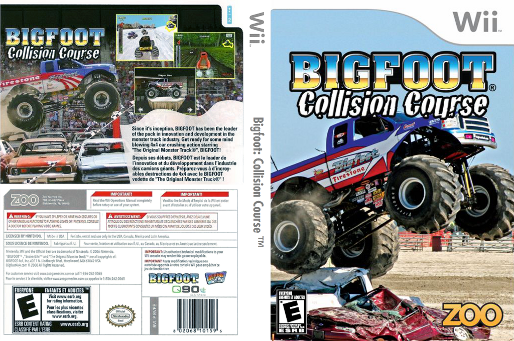 Bigfoot: Collision Course Wii coverfullHQ (RVFE20)