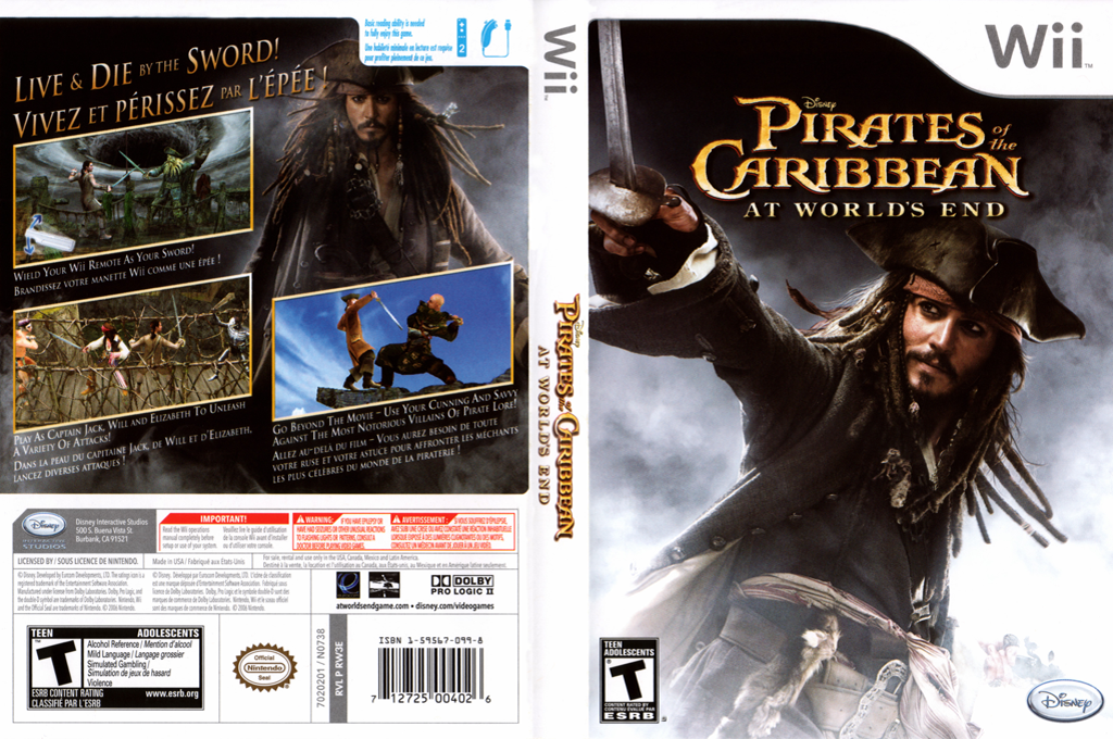 Pirates of the Caribbean: At World's End Wii coverfullHQ (RW3E4Q)