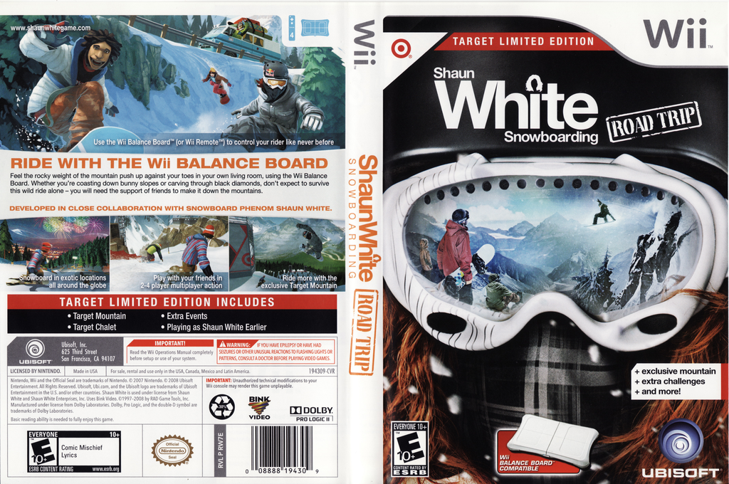 Shaun White Snowboarding: Road Trip - Target Limited Edition Wii coverfullHQ (RW7E41)