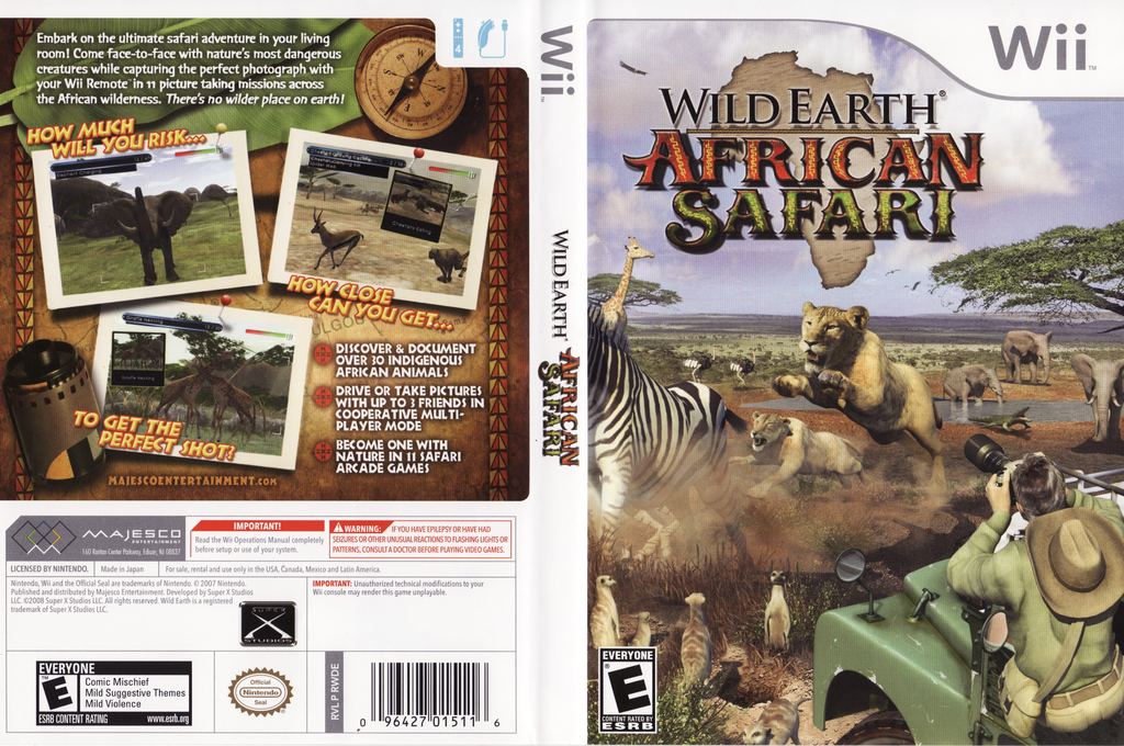 Wild Earth: African Safari Wii coverfullHQ (RWDE5G)