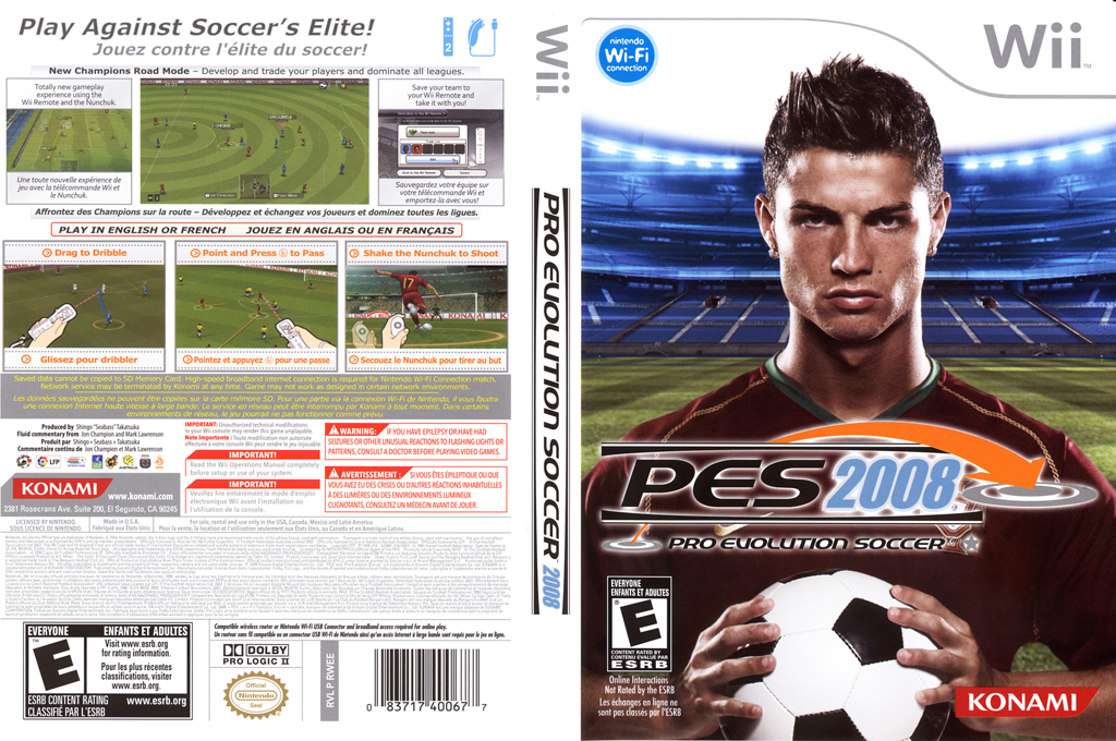 Pro Evolution Soccer 2008 Array coverfullHQ (RWEEA4)