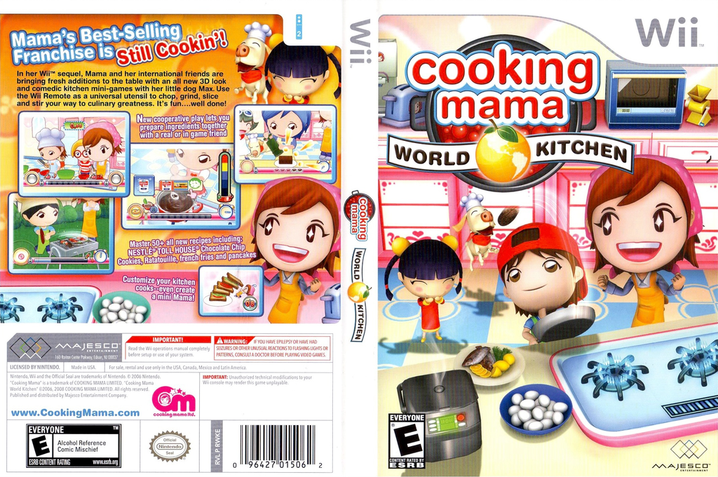 Cooking Mama: World Kitchen Wii coverfullHQ (RWKE5G)