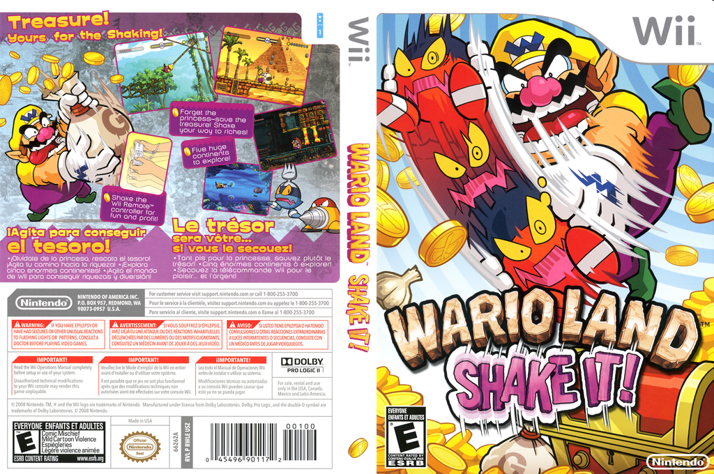 Wario Land: Shake It! Wii coverfullHQ (RWLE01)