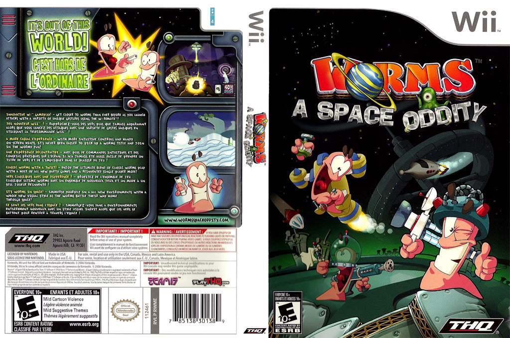 Worms: A Space Oddity Wii coverfullHQ (RWME78)
