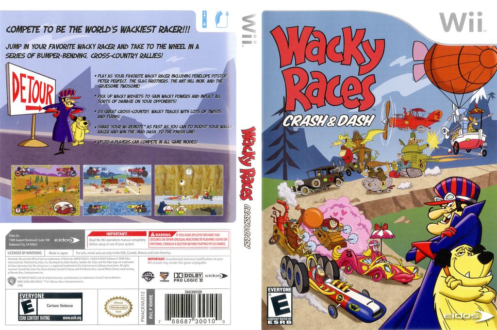 Wacky Races: Crash & Dash Wii coverfullHQ (RWRE4F)