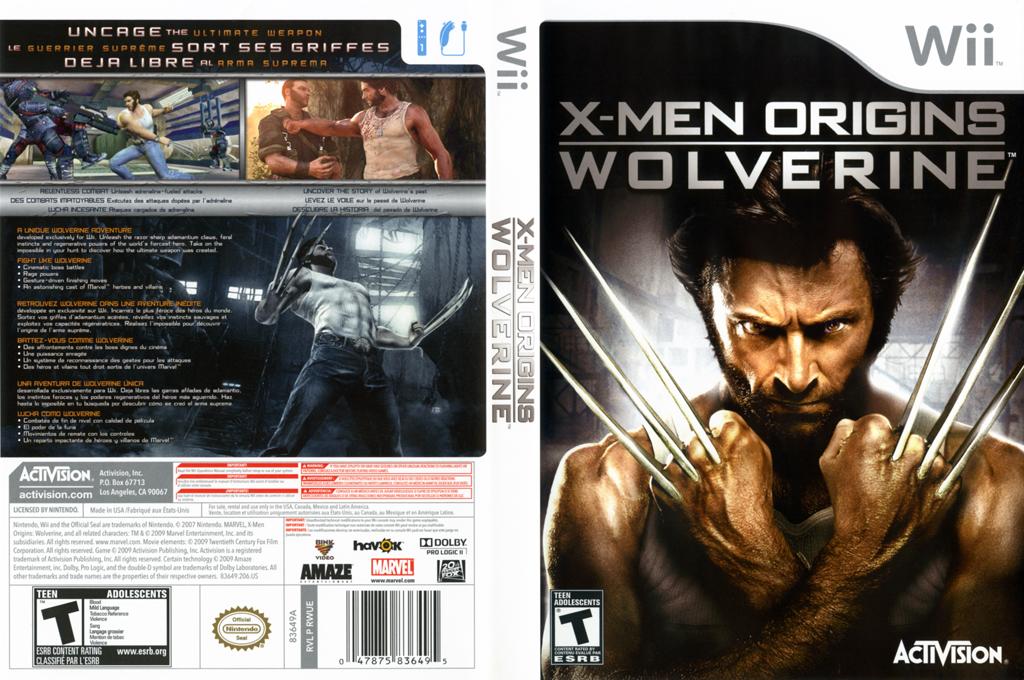 X-Men Origins: Wolverine Wii coverfullHQ (RWUE52)