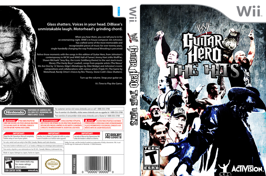 Guitar Hero III Custom : WWE The Hits Wii coverfullHQ (RWWE52)