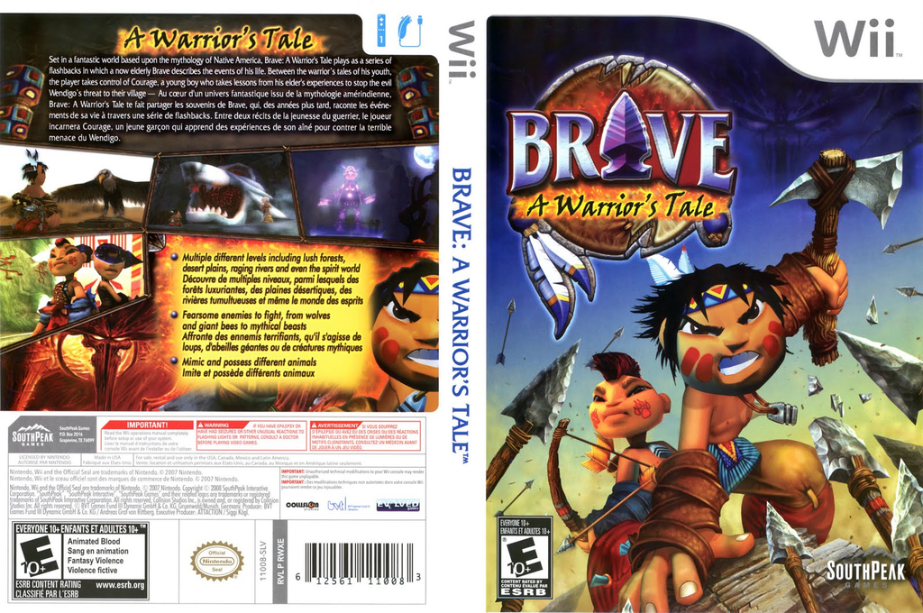 Brave: A Warrior's Tale Wii coverfullHQ (RWXES5)