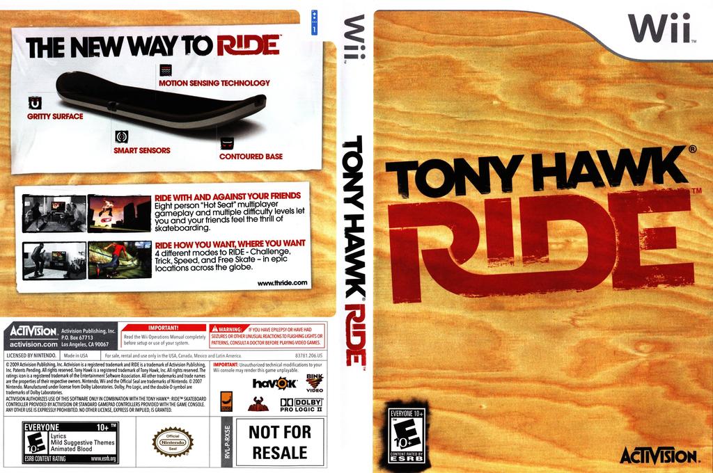 Tony Hawk: Ride Wii coverfullHQ (RX5E52)