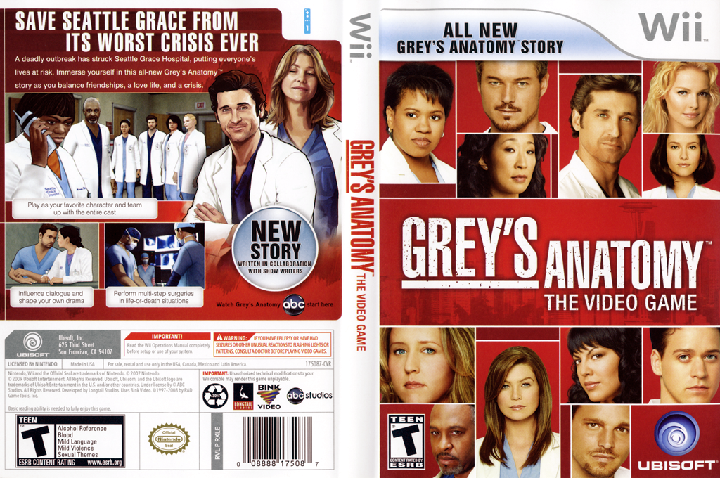 Grey's Anatomy: The Video Game Wii coverfullHQ (RXLE41)
