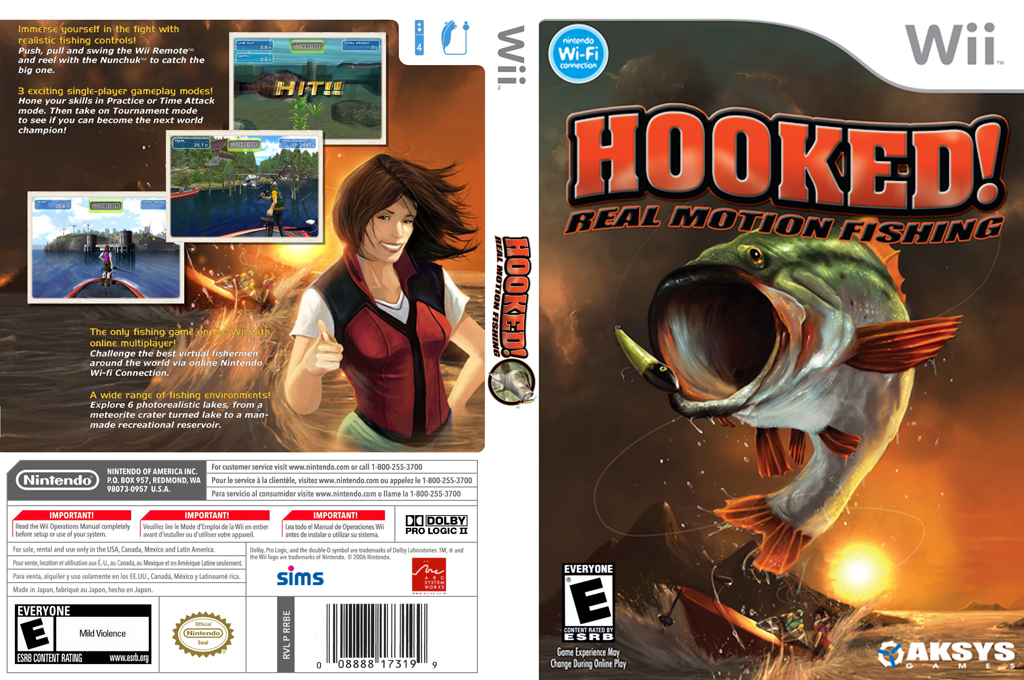 Hooked!: Real Motion Fishing Wii coverfullHQ (RXPEXS)