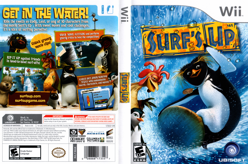Surf's Up Wii coverfullHQ (RXUE41)
