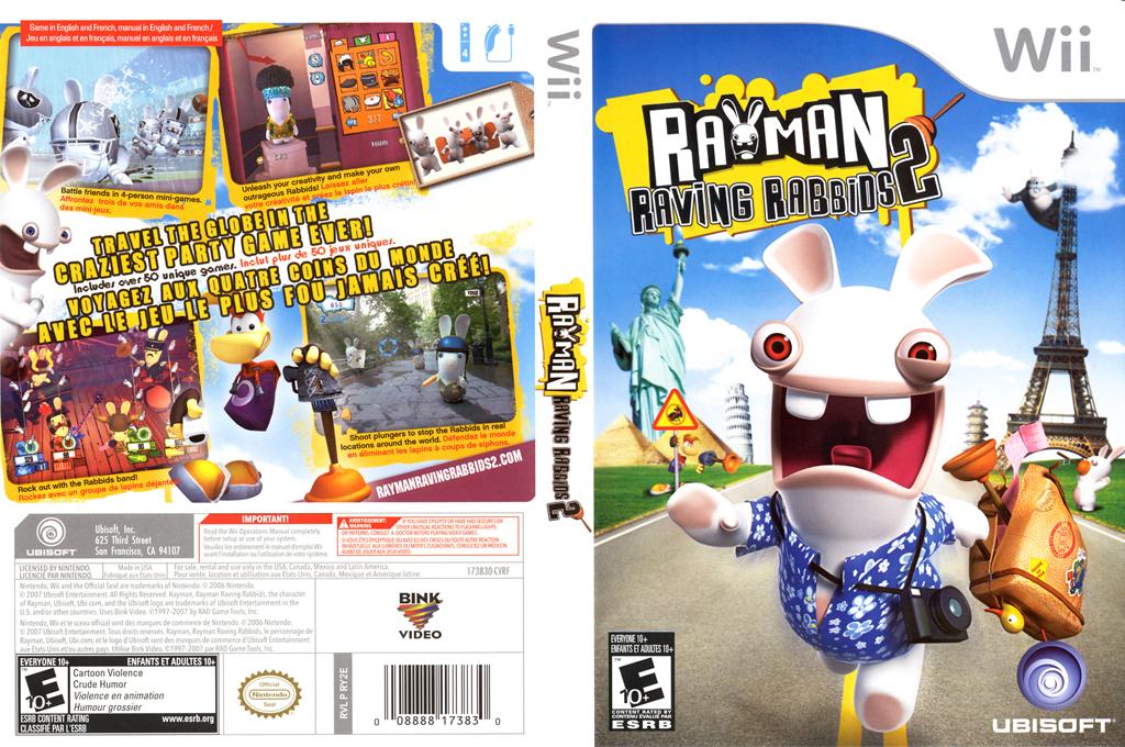 Rayman Raving Rabbids 2 Wii coverfullHQ (RY2E41)